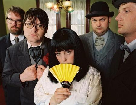 The Decemberists, looking adorable.