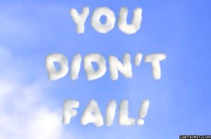 "Skywriting spells out ""You Didn't Fail!"""