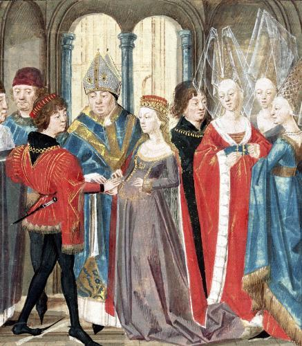 Medieval Painting of Philippe Auguste & Isabelle