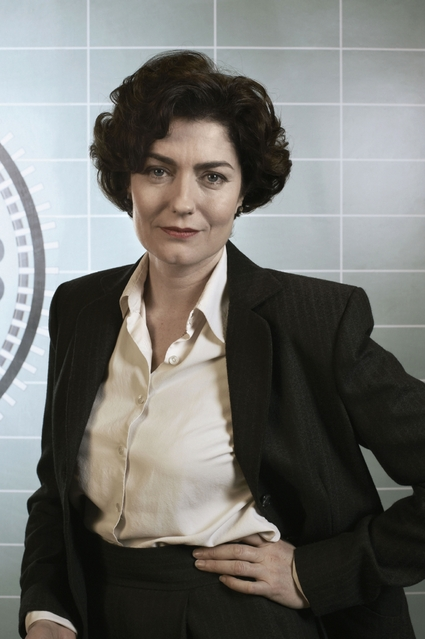 Anna Chancellor as Lix from BBC's The Hour