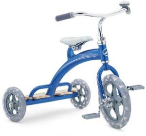 Big blue tricycle