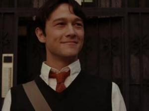 Joseph Gordon-Leavitt from 500 Days of Summer, looking pleased with himself.