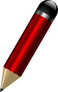 glossy red pencil