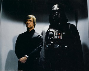 Luke and Darth Vader in an Elevator