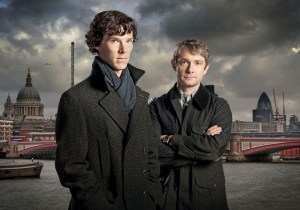 Cumberbatch and Freeman as Holmes and Watson