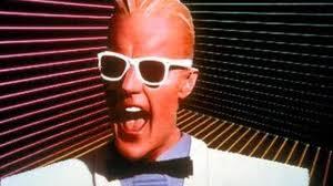 Max Headroom wearing white shades