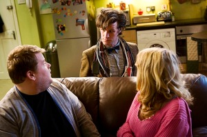 Craig, Sophie, and The Doctor from The Lodger