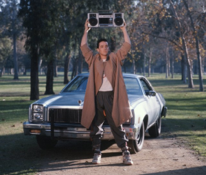 John Cusack holding up a boombox in Say Anything