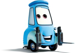 Guido from Pixar's Cars...he's here to help.