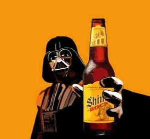 Darth Vader holding out a Shiner Bock, source: Hungry In Houston