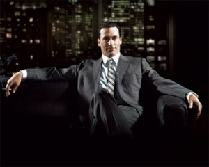 Don Draper looking demonic and badass.