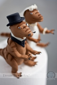 VELOCIRAPTOR WEDDING CAKE TOPPERS!