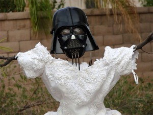 OMG it's Darth Vader + a wedding dress.