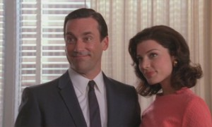 Don Draper and Megan Calvet: They can get to know each other after the honeymoon.