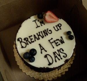 A breakup cake!