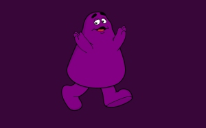 Grimace from the old McDonald's ads