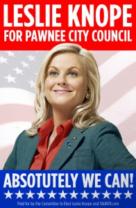 Knope 2012 Campaign Poster (Parks & Rec)