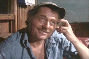 Robert Shaw as Quint in the movie Jaws 1976