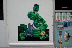 Hulk smash ice cream