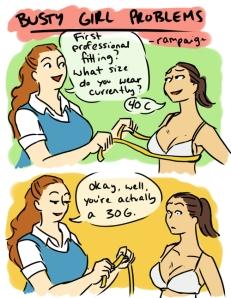 Busty Girl Comics Speechless