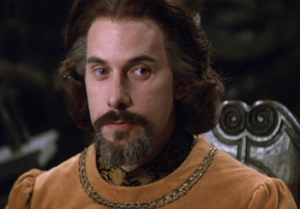 Count Rugen from The Princess Bride looking saturnine.