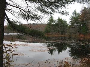 Pike's Pond in Charlton, Massachusetts
