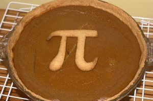 A Pi Pie: A pie with the pi symbol baked into the crust on top.