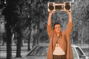 Lloyd Dobbler holding up the boombox of loserdom.