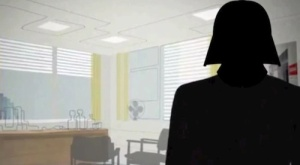 Silhouette of Darth Vader replaces Draper in Mad Men opening credit sequence.