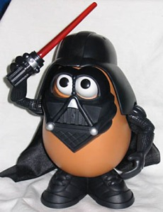 A Darth Vader Mr. Potato Head.