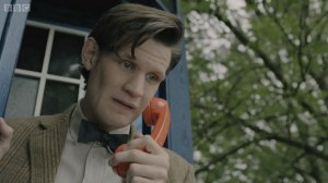 Doctor Who on the phone.