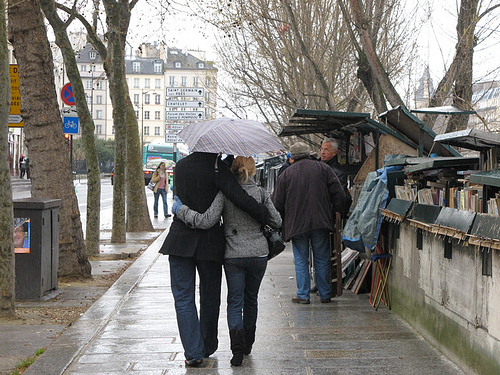 Couple on the Quai in Paris