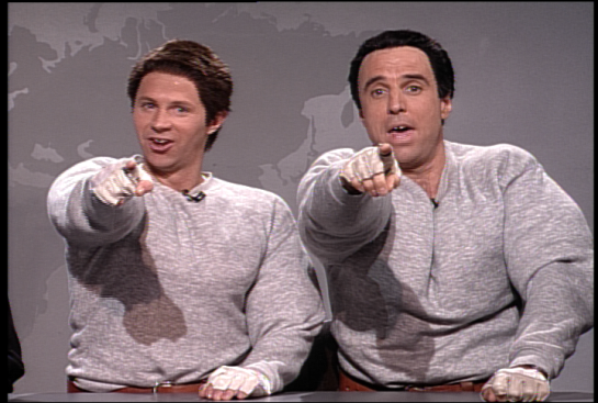 Hans and Franz from Saturday Night Live, also, I'm old.