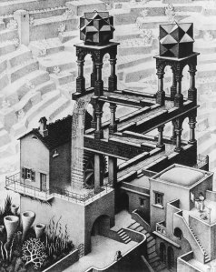 Waterfall by MC Escher