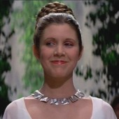 Princess Leia smiling