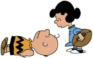 """This is all your fault. I wouldn't be so mean if you weren't so gullible, Charlie Brown!"""