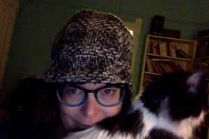 JenniferP + Cat + Tweedy Hat