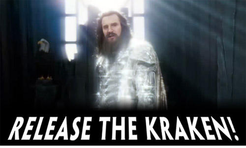 Liam Neeson from Clash of the Titans: Release The Kraken!