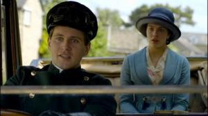Lady Sybil and Branson the Chauffeur from Downton Abbey
